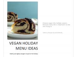 Vegan Holiday Menu Ideas